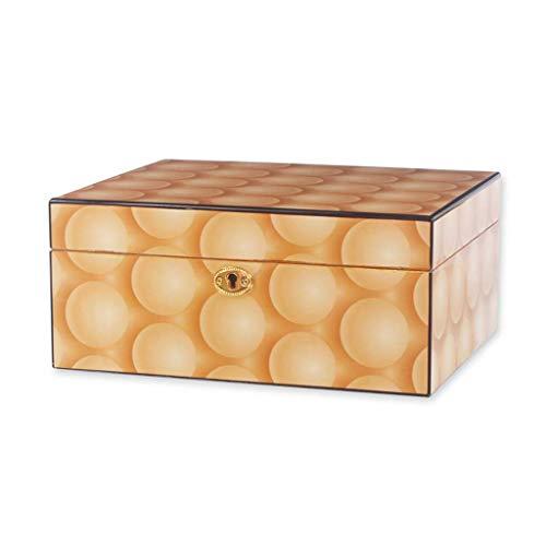 Zigarettenschachtel Zedernholz Luftbefeuchter doppelt großer Kapazität mit Luftbefeuchter und Hygrometer konstanter Temperatur und Luftfeuchtigkeit Verdickung Siegel Männer Geschenk-Box kreative Zigar
