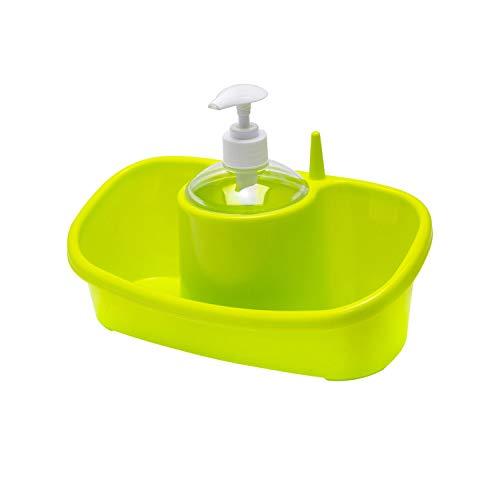ORYX 5071155 Estropajero Doble Plastico Con Dosificador Colores Surtidos