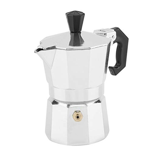 Caffettiera Espresso, 30 ml 1 Tazza in Alluminio Tipo Italiano Moka Stufa da Ufficio da casa su fornello a Gas o Elettrico