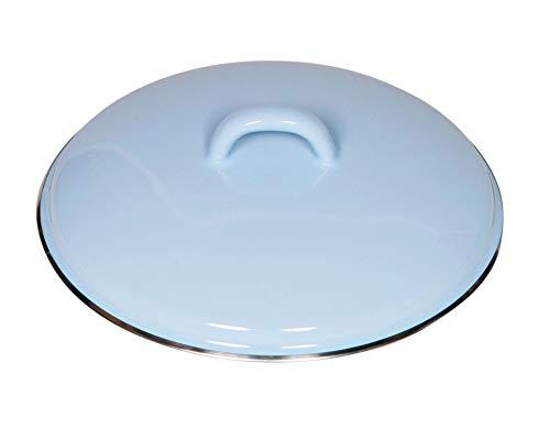 Riess 0098-006 Classic Household Couvercle color/pastel avec bord chromé Bleu Ø 18 cm