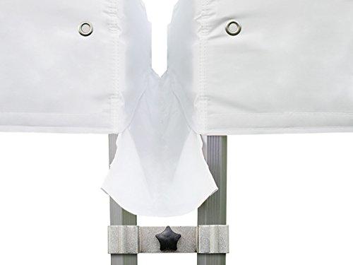 TOOLPORT Pavillon Verbindungsset PROFIZELT24 Set für 3m Pavillons - 40mm in weiß Faltzelt Faltpavillon