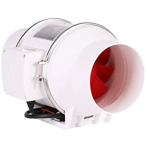 LANDUA 5 Pulgadas de Escape en línea Ronda del conducto del Ventilador de ventilación Cubierta Jardín Cuarto de baño, Cocina, Espacio de Oficina