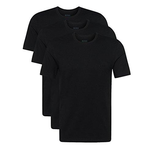 Hugo Boss 3er Pack O Neck S 001 schwarz Rundhals Ausschnitt T Shirts, 3 X Schwarz, S(4)48
