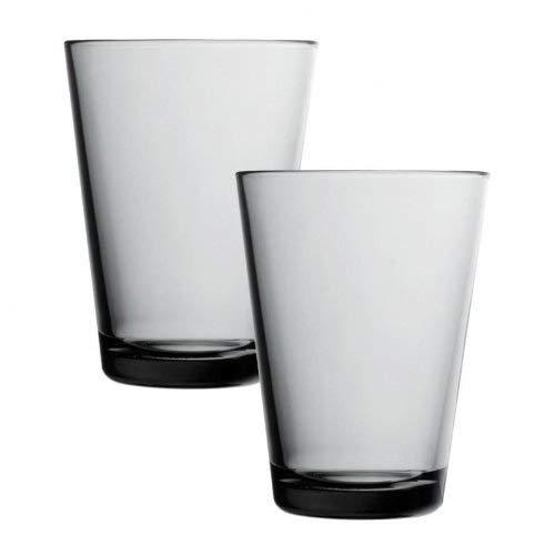 Iittala Kartio Trinkglas, 2er-Set, 40 cl, grau