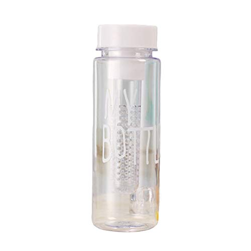 Botella Agua Gym Botellas Agua Deporte Botellas De Agua Reutilizables For Fitness, Gimnasio, Bicicleta, Gimnasio, Al Aire Libre, NiñOs, Escuela White,500ml