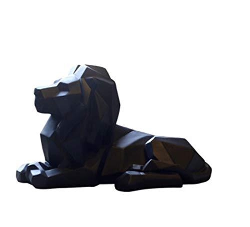 ZGPTX Escultura Estatua decoración Regalo Decorativa Moderno estatuas Figuras Lion Faith Sculpture Geometric Statue Animal Origami Abstract Art
