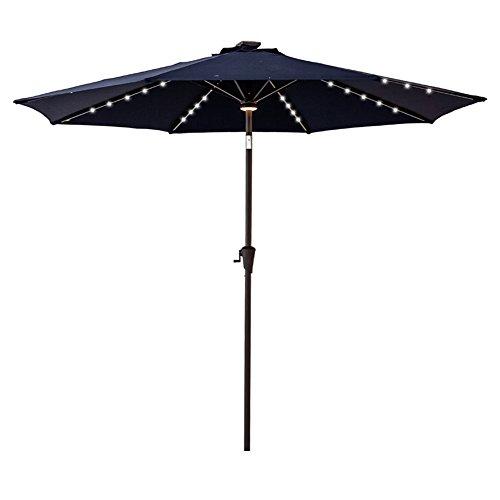 FLAME&SHADE 9 ft Outdoor Patio Umbrella