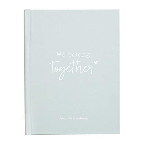Odernichtoderdoch Stammbuch | We belong together | Mint - 17 x 22 cm - Froschtasche