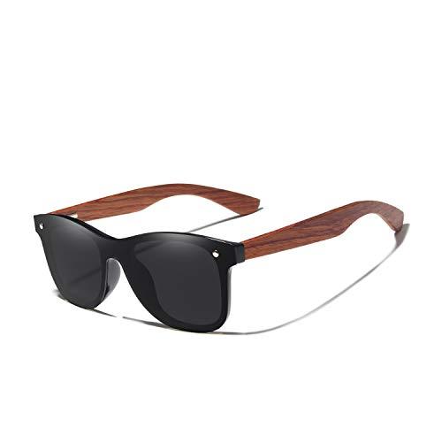FFSMCQ Gafas de sol polarizadas de gafas polarizadas de nuez hechas a mano de nuez Hombres mujeres diseño vintage UV400