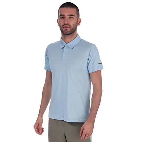 adidas X Porsche Design P´5000 Pique Polo Shirt Polohemd P'5000 Turbo Shirt Blau, Größe:L, Farbe:Hellblau