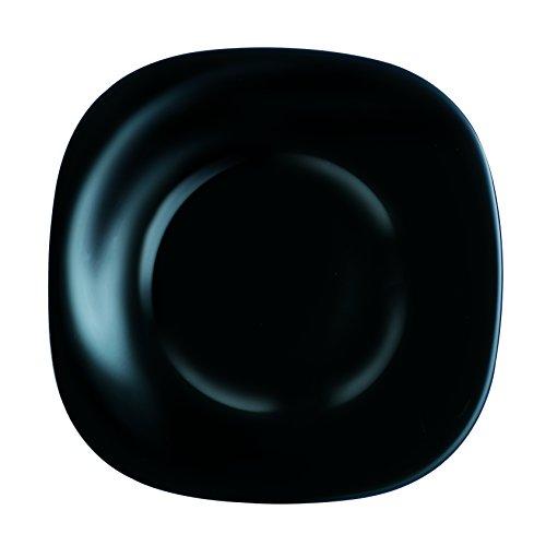 Luminarc 9203664 Carine - Plato Postre, Negro, 19 cm, 1 Unidad