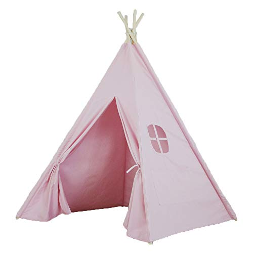Wigwam Tent For Kids Play Cotton Children Tent Indian Play House Parent-Child Play House Toy Princess Room,Pink