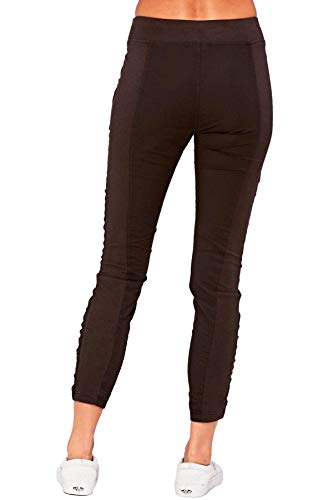 XCVI Wearables Women's Malanda Pants, (Large, Black) - Lightweight Ankle Pants