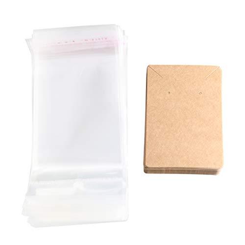 Healifty 150 Sätze Papier Ohrring Karten Schmuck Versiegelung Taschen Schmuckhalter Display Karten für Halskette Ohrring Ohrstecker Halter