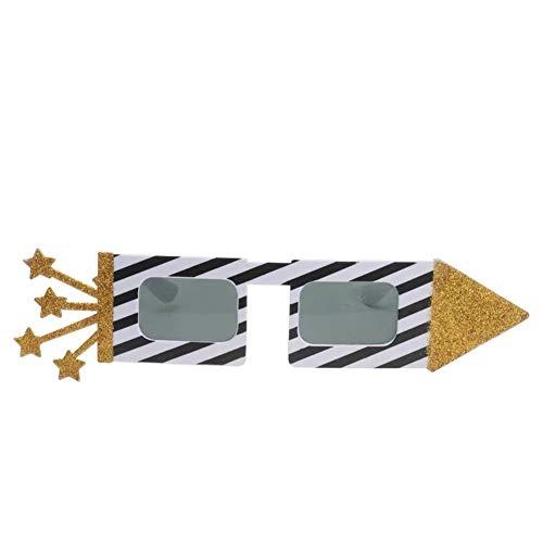 NOLOGO 2ST Neuheit Sonnenbrille, Plastikgläser Bunte Brillen for Kostüme Hawaii Strand Party Supplies für Dekorieren Sie Ihre eigenen Designed (Color : Stripe)