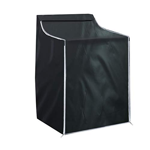 SKYCOOL Washer Cover Dryer Cover,Fit for Outdoor Top Load and Front Load Machine,29''L x 28''W x 40''H Zipper Design for Easy Use,Waterproof Dust-proof(Black)