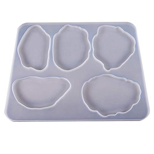 Huyiko Große Tischdekoration Backform Untersetzer Set Multi-Standard Tasse Silikon Formen Basteln Kristall Epoxidharz UV Kleber