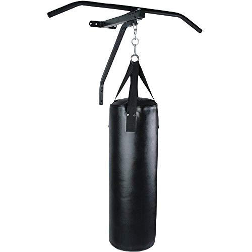 Nova - Saco de Boxeo Completo con Barra para dominadas (28 cm de diámetro x 83 cm de Altura) / Cuatro Correas Resistentes - Barra: de Acero / 83 cm de Ancho, de Pared - Pull-up Bar, Artes Marciales