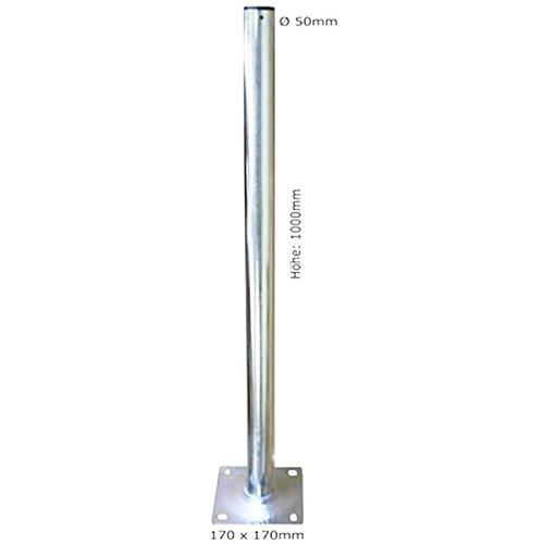 Standfuß Ständer Stange Halter für Satellitenschüssel SAT-Antenne SAT-Spiegel Mastfuß SAT-Schüssel 1m