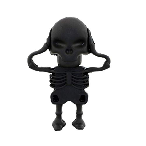 Unidad Flash USB 128 GB Pen Drive 32 GB Skull Skeleton Pen Drive 16 GB 8 GB 64 GB USB 2.0 Memoria USB Halloween