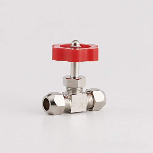 Pinhan - Válvula de válvula de válvula de ángulo de latón de alta presión, tipo globo, válvula de válvula de agua, válvula tipo globo, dorado