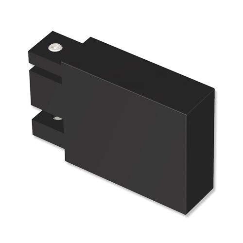 INTERDECO Endstücke Lange Kappe (Quader) Schwarz aus Metall für Innenlauf Gardinenstangen eckig 14x35 mm (2 Stück)