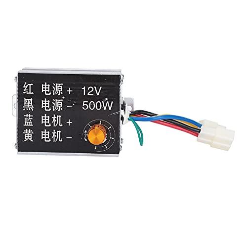 Regulador de perilla, aleación de aluminio Interruptor de control de velocidad del motor 12V 500W Regulador de perilla Controlador Interruptor de control de velocidad Control de velocidad del motor de