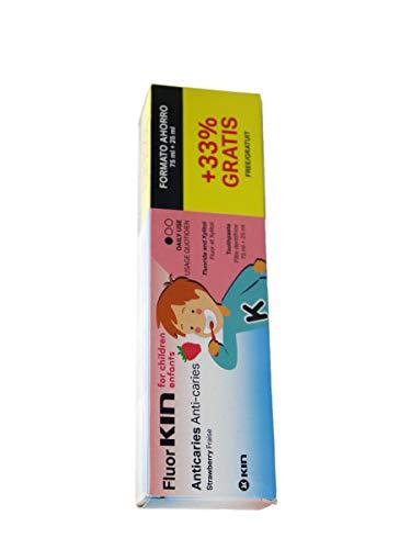 Kin - Pasta Dentrífica Fresa Fluor-Kin Infantil Kin 2-6 años 75 ml