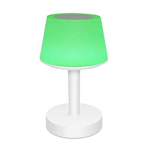 ZQCM Lámpara De Escritorio, Mesita De Noche Led Lámpara Colorida Mini Lámpara De Mesa Lámpara De Altavoz Bluetooth Carga USB Portátil Inalámbrico para Hogar, Dormitorio
