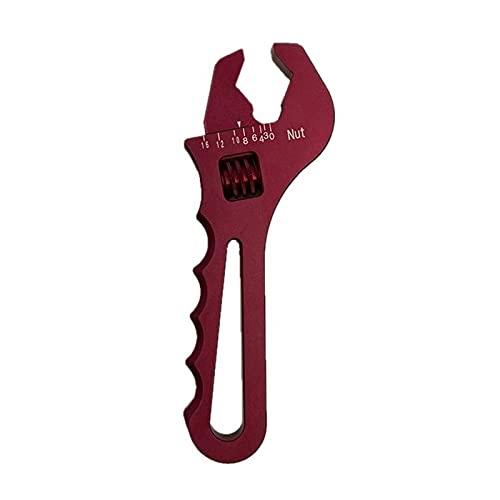 Fransande - Llave inglesa, llave de aluminio, herramienta de montaje de manguera, llave de aluminio, AN3-AN16, color rojo