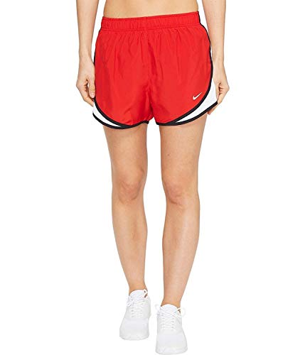 Nike Women's Dri-fit Tempo Track 3.5 Short (Sport Red/White/Black/Wolf Grey, Large)