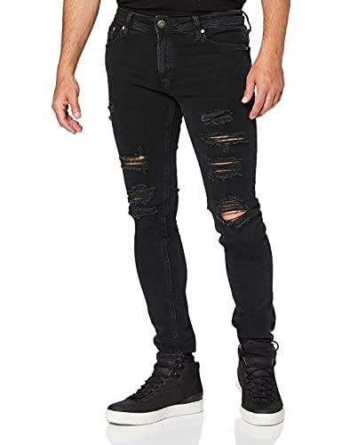 JACK & JONES Herren Jjiliam Jjoriginal Am 502 Lid Sts Skinny Jeans, Black Denim, 33W 32L EU