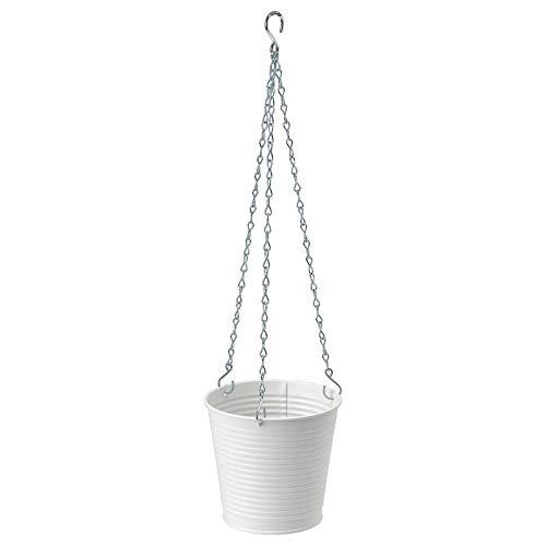 IKEA CASHEWAPPLE Übertopf zum Aufhängen, für drinnen und draußen, weiß, 12 cm