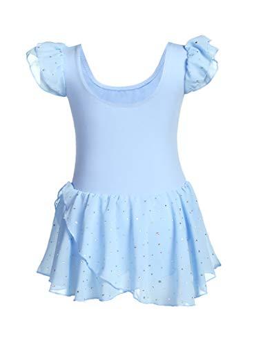 MAXMODA Vestido de baile para niñas de ballet hermoso y cómodo traje de ballet con puntos de purpurina vestido de baile de los niños ropa de ballet de las niñas vestido de ballet leotardo 150