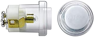 NuTone pb18whcl timbre botón decorativos,, White Button Clear Bezel