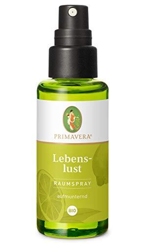 PRIMAVERA Raumspray Lebenslust bio 50 ml - Grapefruit, Spearmint und Limette - Aromadiffuser, Aromatherapie - aufmunternd - vegan