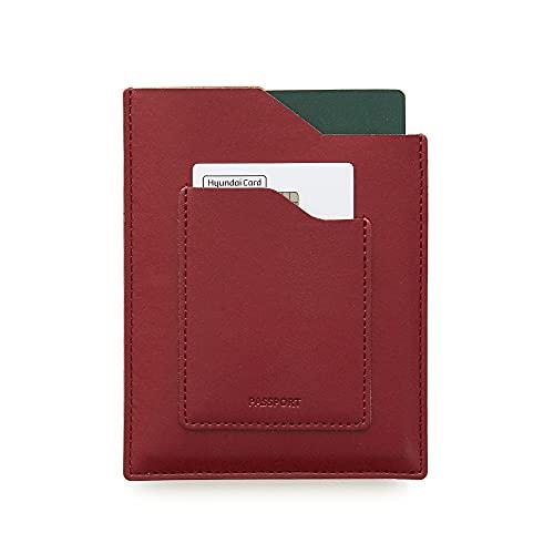 Funnymade PASSPORT WALLET 便利 航空券 カード まとめて 空港 旅行 海外旅行 機内 簡単 使いやすい パスポートケース パスポートカバー パスポート入れ おしゃれ かわいい シンプル passport case (BURGUND