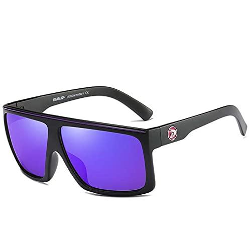 AMFG Hombres y mujeres Retro Gafas de sol Polarizadas Conductores Conducción Deportes Pesca Gafas de sol para viajes al aire libre (Color : A)