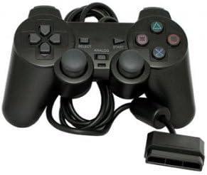 Mando con Cable para Sony PlayStation 2 PS2 Dual shock Controller Controllador Negro