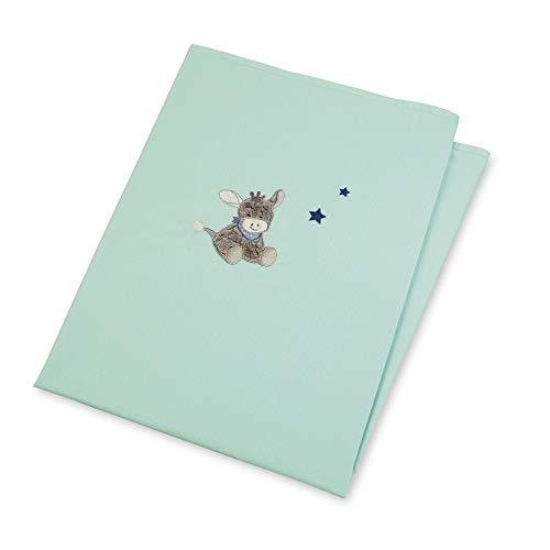 Sterntaler Drap d'Été Anti-UV Âne Emmi, Âge : Bébé dès la Naissance, 70 x 100 cm, Turquoise