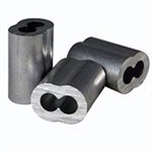 Cheapest Prices! 5 pcs Zinc Plated Copper Swage Crimp Sleeves for Wire Rope Cable 3/16- Made in USA