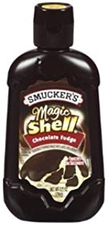 Smucker's Magic Shell Ice Cream Topping, Chocolate Fudge, 7.25-ounce Bottles (Pack of 4)
