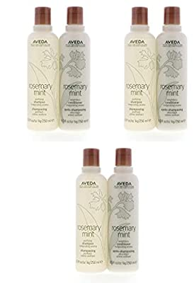 Aveda Rosemary Mint Purifying Shampoo 8.5oz & Weightless Conditioner 8.5oz Set Pack of 3