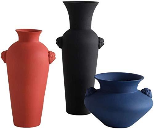 Vaas keramische vaas handgemaakte Craft Color modder kan worden geplaatst op kantoor, TV kabinet, eettafel, Decoratie (Set van 3)