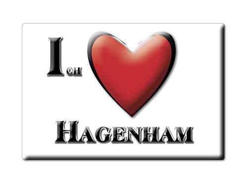 Enjoymagnets HAGENHAM (by) Souvenir Deutschland Bayern Fridge Magnet KÜHLSCHRANK Magnet ICH Liebe I Love