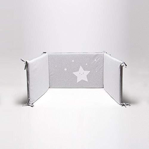 Bonjour Bebe Pima deux faces – Protège matelas pour lit bébé, 60 x 70 cm, couleur gris