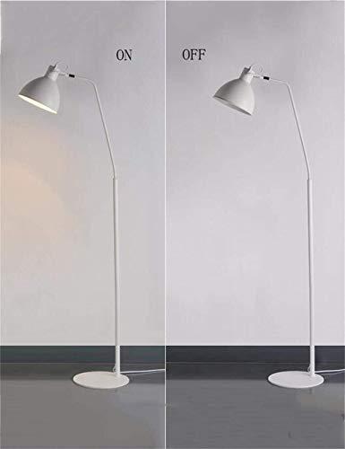 YUQIYU De pie luminarias de hierro interruptor de pie simple vertical de pie luminarias for estar Sala de Estudio Dormitorio Incluye bombilla