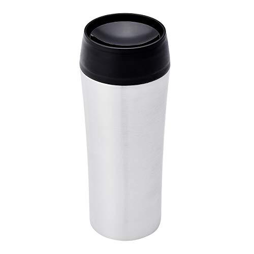 Amazon Basics Tazza da Viaggio in Acciaio Inox, Isolata Tazza di Caffè con Sipper 360 Gradi, 360 ml
