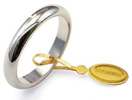 Fede Nuziale Unoaerre Classica da 5 grammi oro bianco 18kt