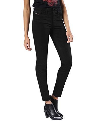 Diesel Skinzee-Low R8F14 Damen Jeans Skinny Super Slim (25W / 32L, Schwarz)